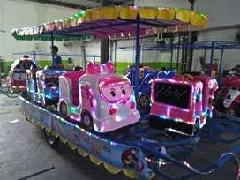 fn 1 Kereta panggung tayo robocar karet lokomotif loko odong odong