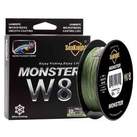 Seaknight Monster W8 Senar Tali Pancing 8 Strands 500 Meter