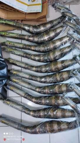 Knalpot racing bogar rx king plat kolong kobra