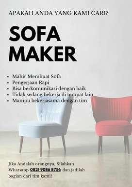 DIBUTUHKAN! Tukang Sofa/Pengrajin Sofa