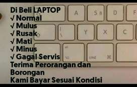 Dibeli laptop bekas. Segala kondisi,segala merk, i3, i5, i7, dll