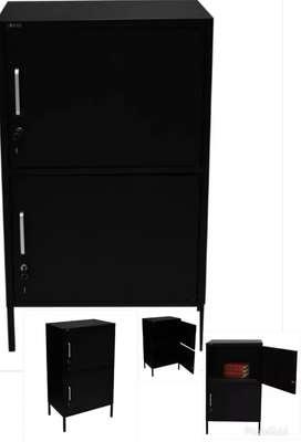 Lemari metal untuk baju / arsip kantor 60x40x100 warna hitam