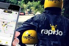 Hyderabad rapido is hiring food delivery boys and bike taxi riders
