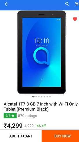 Alcatel 1T7 8gb 7inch tablet NEW