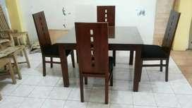 set meja makan minimalis jati solid 913