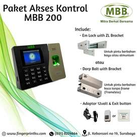 Door Lock Fingerprint MBB 200 Akses Kontrol Access Buka Tutup Pintu