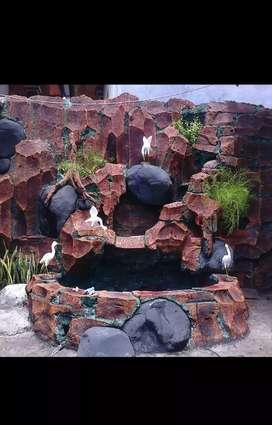 pembuatan tebing kolam
