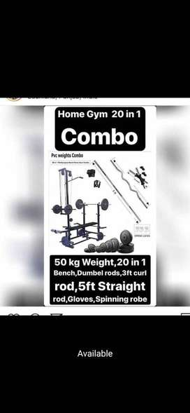 20 in 1 home gym bench