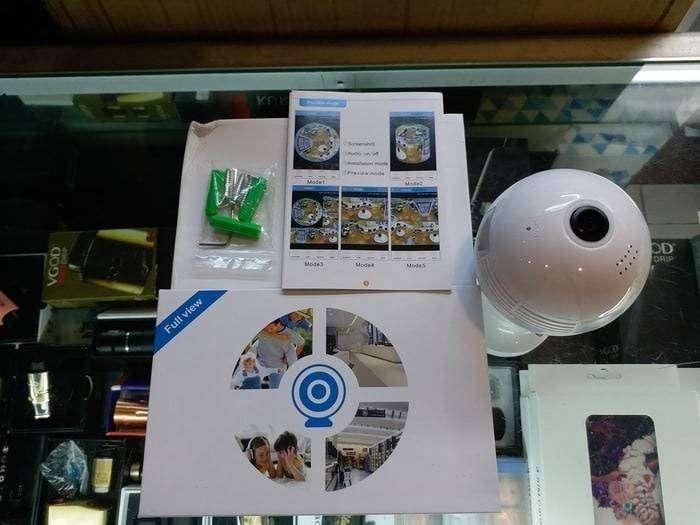 Kamera Video Bentuk Bohlam Lampu Bola Wireless White 0