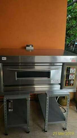 Mesin gas oven roti 1 deck 2 tray primax murah