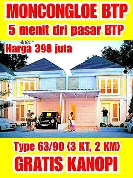 Rumah Murah Cantik dekat BTP moncongloe. Type 63/90 (3 KMR TIDUR)