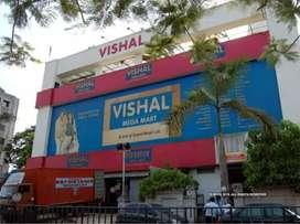 Requirements in vishal mega mart in sales.