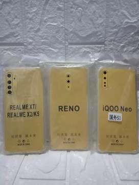 PROMO NIH-ANTI CRACK SOFTCASE REALME XT X2 K5/OPPO RENO/IQOO NEO -BARU