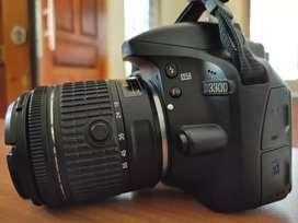 Di Lelang, baca Deskripsi, Kamera DSLR Nikon D3300 mulus, fullset