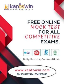 Free Online Mock Test for all Competitive Exams at kentowin