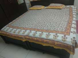 Two single cots plus mattress
