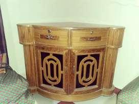 Wooden corner stand