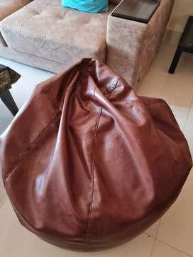 Bean bag brown colour..XL size