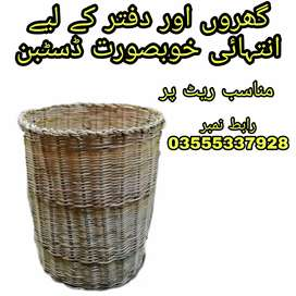 Soft wood dustbin for home and office decoration.