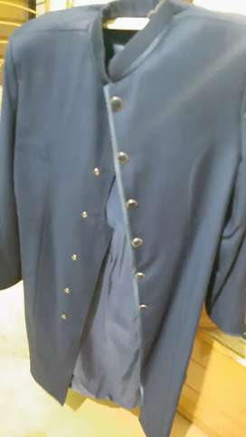 Blue sherwani . 10/10 condition.  Very well stitched from Lahore.