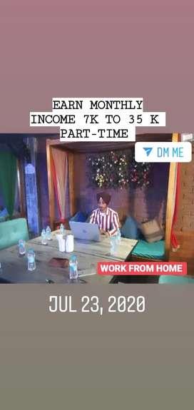 Achee income earn k liye contact kre