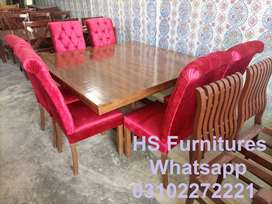 Full Cushion Chairs with Stylish Dining Table