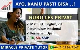 Guru Les Privat  TK,SD,SMP, DEWASA. Bimbingan Belajar, Persiapan Ujian