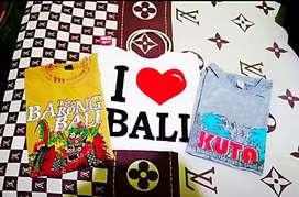 T-shirts Baju Souvenir khas Bali 2 Pasang size XL Free Goodie Bag Bali
