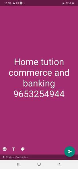 Female commerce home tutor noida