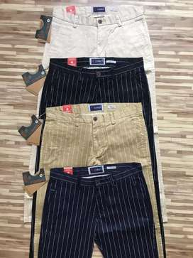 Cotton branded casual pants