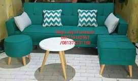 Sofa L Minimalis Canvas Custom made