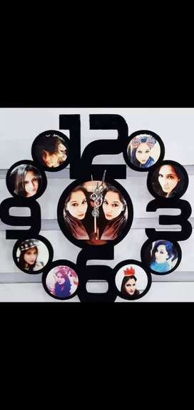 Customized photo wall clock