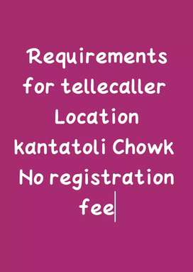 Requirements available for tellecaller