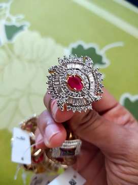 Ruby diamond ring || With tag || Premium Quality