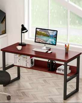 Laptop desk table with shelves for storage of books,keyboard,mouse,etc