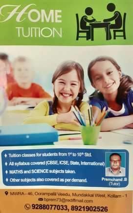 HOME TUITION FOR CLASS (1st to 10th) CBSE, ICSE, STATE & INTERNATIONAL