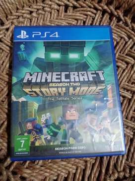 Minecraft season 2 story mode CD for play Station 4