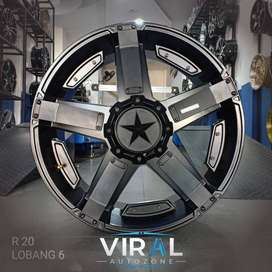 velg model off road r20 pcd 6x139,7 bisa credit gan
