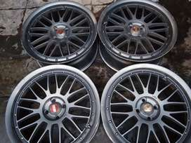 Velg r18 pcd 4x100 hsr best for jazz rs city rs freed vios dll