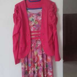 Dress pink fanta,bahan jersey