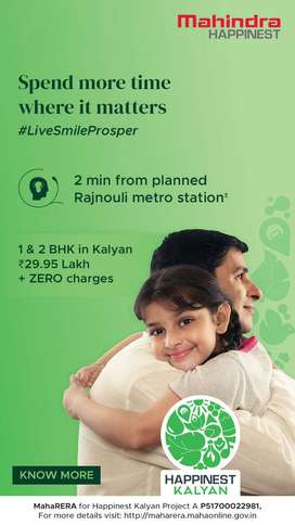 1&2 BHK in Kalyan just 2 mins from planned Rajnouli Metro Station