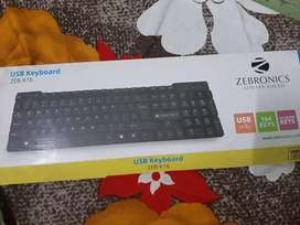Zebronics keyboard and wireless mouse