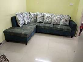 Vintage Design L shape sofa with 5 years of warranty
