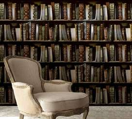 books shelf  wallpapers for library and study room