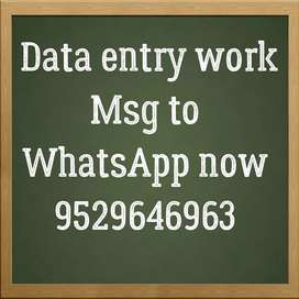 Earn money through data entry work