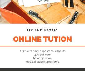 Online tution for fsc and matric