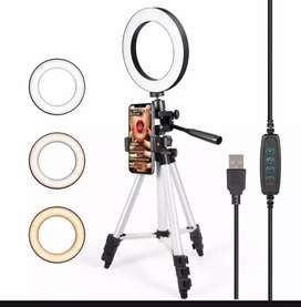 New 8inch Selfie Ring light With 4.5ft tripod