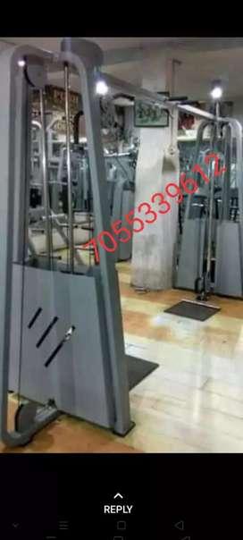 Golden gym setup