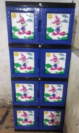Gratis ongkir bjm - Lemari plastik 4 tingkat dalam / 8 pintu