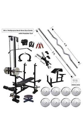 FIT KART 20 in 1 Bench with 60 Kg weights